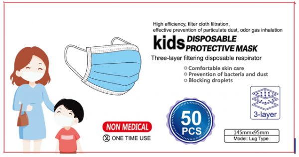 FDA Kids 3ply Masks